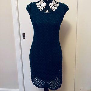 Dark Teal Lace Dress